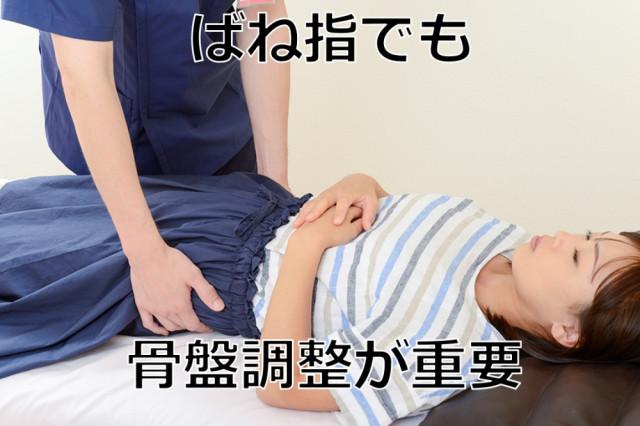 ばね指でも骨盤調整が重要